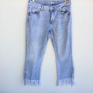 Zara Basic Z1975 High Waisted Distressed Jeans 6